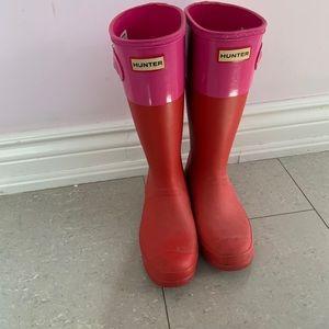 Hunter Rain boots , size UK 4, US 6G 5B